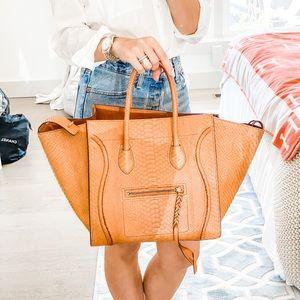 Celine Python Medium Phantom Luggage Bag Tote